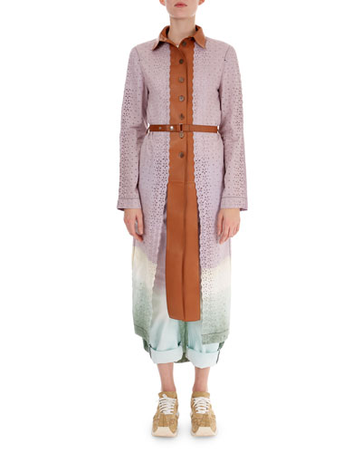 Ombre Laser-Cut Lace Coat and Matching Items