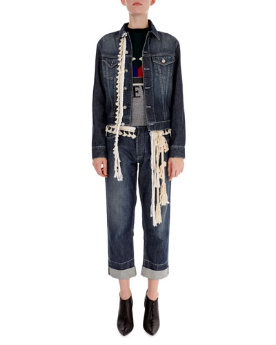 Rope-Trim Denim Jacket and Matching Items