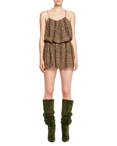 Leopard-Print Cami Mini Dress and Matching Items