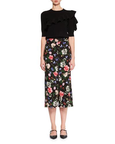 Jill Ruffle-Sleeve Sweater and Matching Items