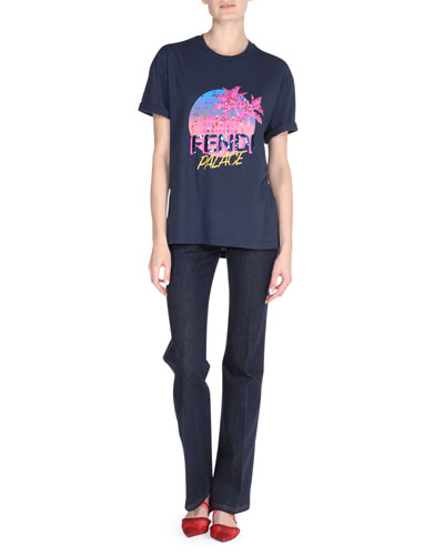 Fendi Palace Graphic T-Shirt and Matching Items