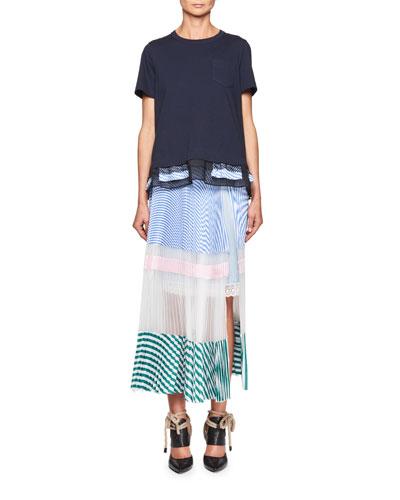 Short-Sleeve Ruffle-Hem Top and Matching Items