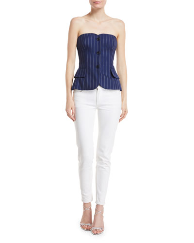 Blanche Pinstriped Bustier Top and Matching Items