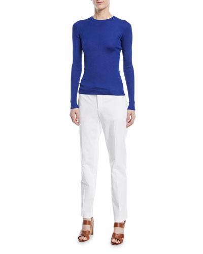 Ribbed Silk Crewneck Shirt and Matching Items