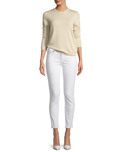 Long-Sleeve Cashmere Crewneck Sweater and Matching Items