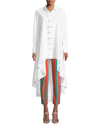 Marpessa Poplin High-Low Blouse and Matching Items