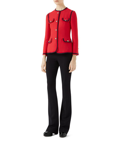 Single-Breasted Cady Crepe Jacket and Matching Items