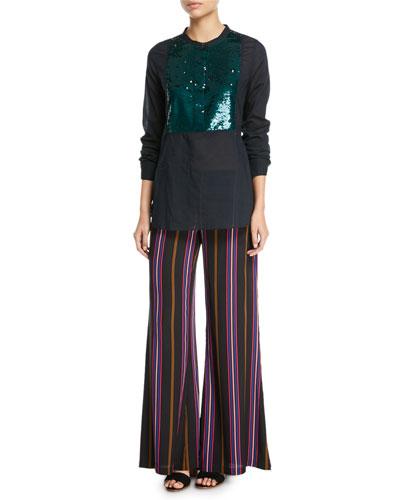 Manuela Beaded Tuxedo Shirt and Matching Items