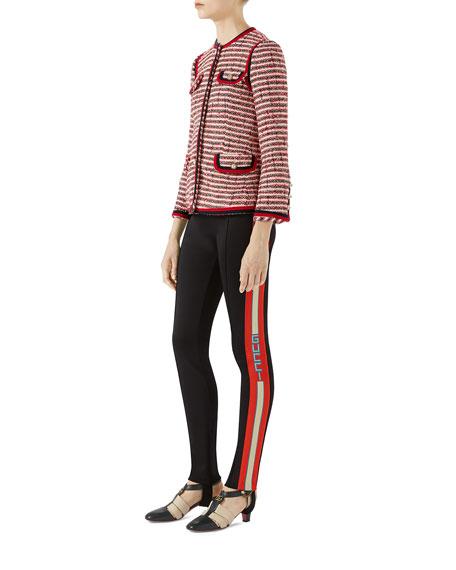 Striped Tweed Jacket