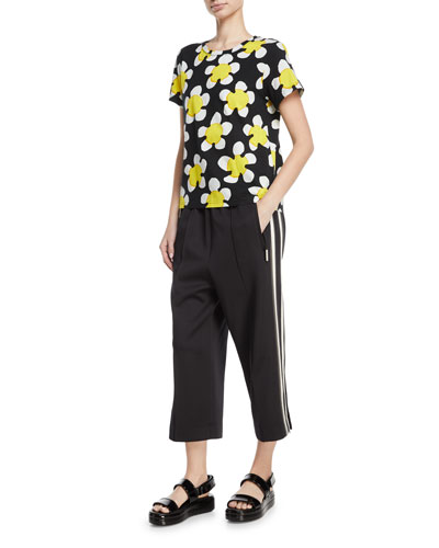 Daisy-Print Jersey T-Shirt and Matching Items
