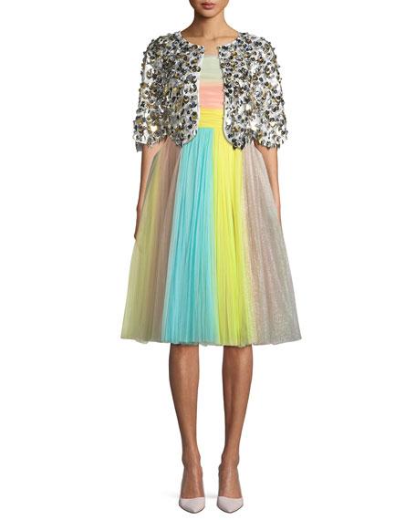 Sequin-Embellished Bolero Jacket