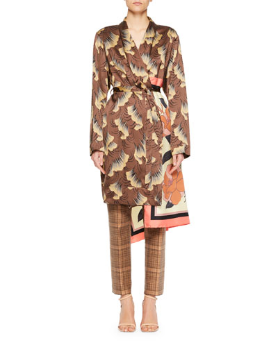 Racun Gingko Leaf Wrap Coat and Matching Items