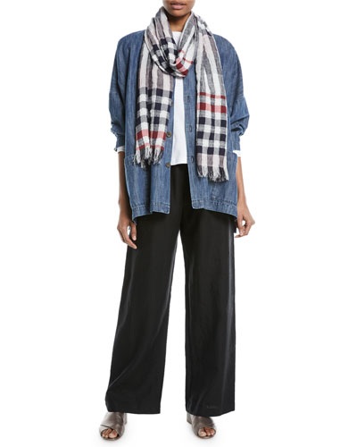 Drawstring Linen Trousers  and Matching Items