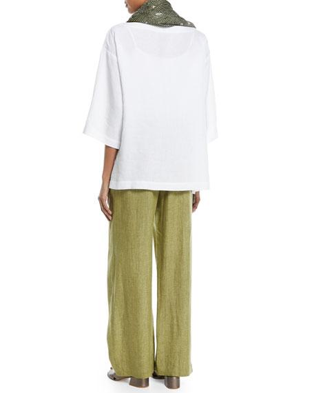 3/4-Sleeve Linen Tunic