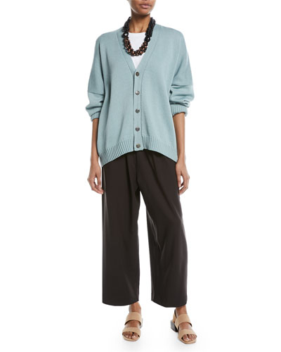 Cropped Stretch-Wool Trousers and Matching Items