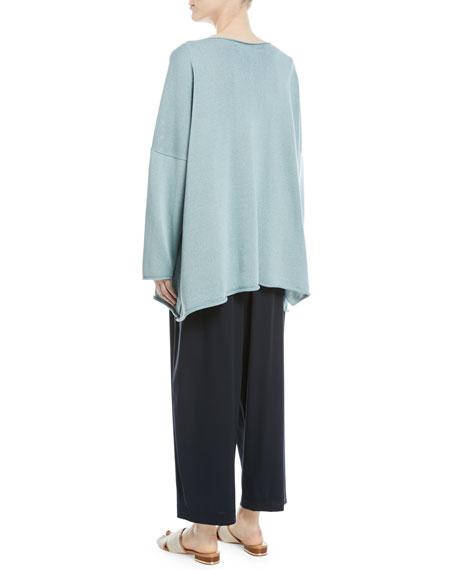 Mercerized Cotton Long-Sleeve Top
