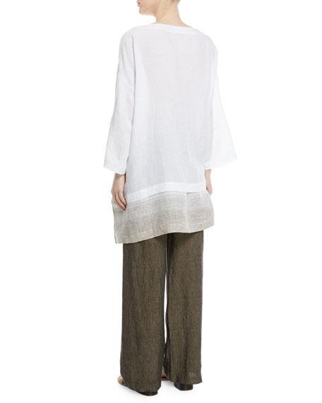 Wide A-Line Linen Tunic