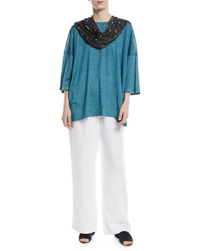 Wide Short-Sleeve T-Shirt and Matching Items