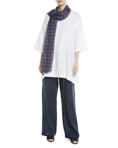 3/4-Sleeve Linen Tunic  and Matching Items