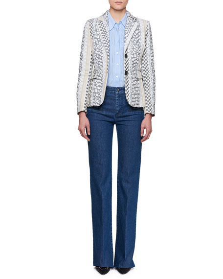 Fenice Striped Jacquard Blazer