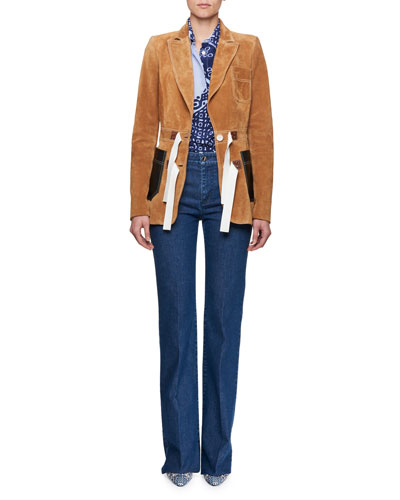 Suede Tie-Waist Blazer and Matching Items