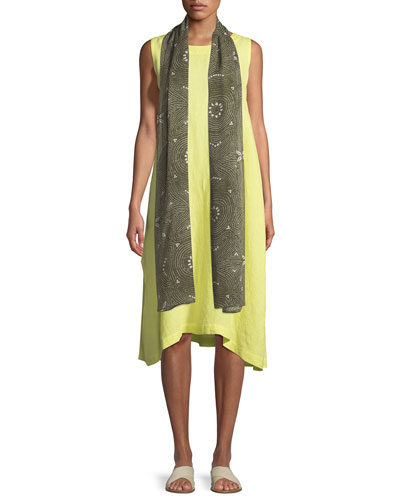 Pleated Sleeveless Linen Dress and Matching Items