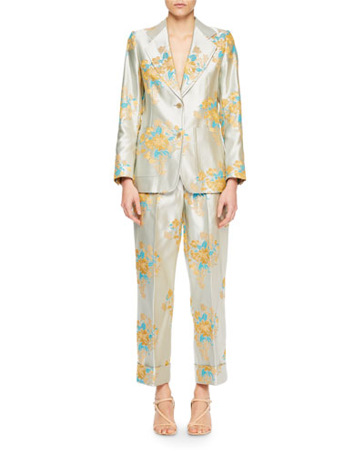 Blunt Floral Tapestry Jacquard Blazer and Matching Items
