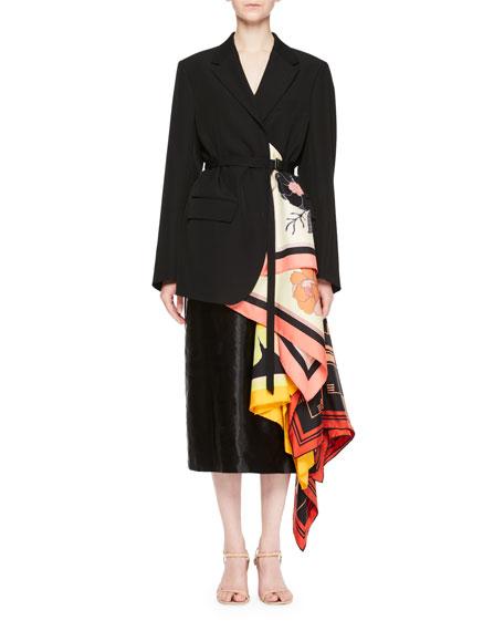 Bacchu Jacket Blazer w/ Attached Foulard Side Wrap