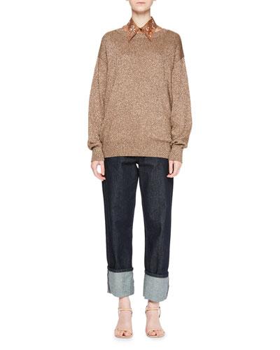 Jantien Metallic Crewneck Sweater and Matching Items