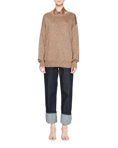 Jantien Metallic Crewneck Sweater and Matching Items