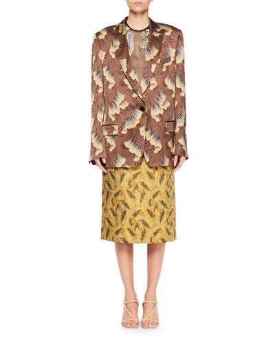 Bisto Gingko Leaf Jacquard Blazer and Matching Items