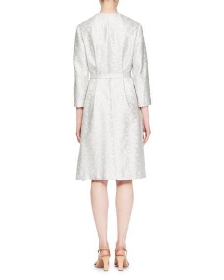 Delax V-Neck Floral-Print Slip Dress with Crystal Straps