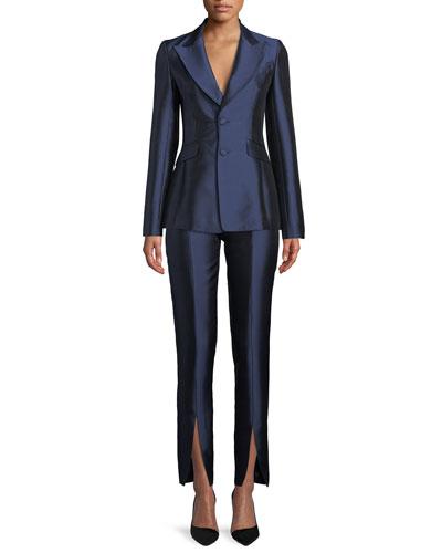 Serge Single-Breasted Silk-Wool Blazer and Matching Items