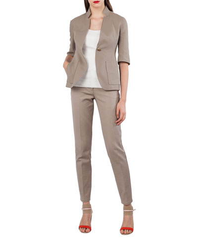 Reversible Mock-Neck Jacket and Matching Items