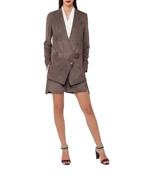 Nubuck Leather Bermuda Shorts