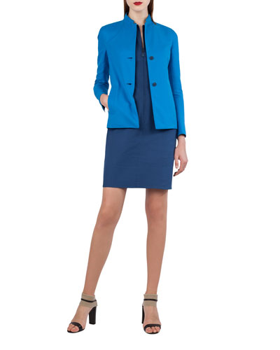Two-Button Bicolor Reversible Jacket and Matching Items