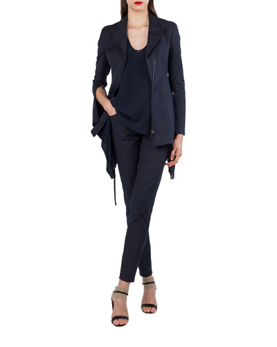 Double-Face Stretch-Sateen Jacket and Matching Items