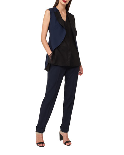 Sleeveless Double-Face Tuxedo Top and Matching Items