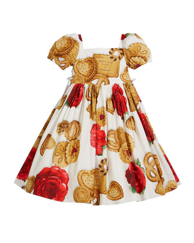 Biscuit & Roses Puffy-Sleeve Dress, Size 4-6 and Matching Items