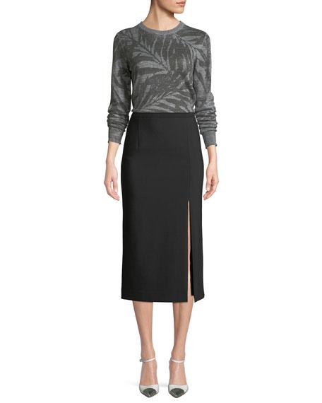 Crewneck Palm Knit Sweater