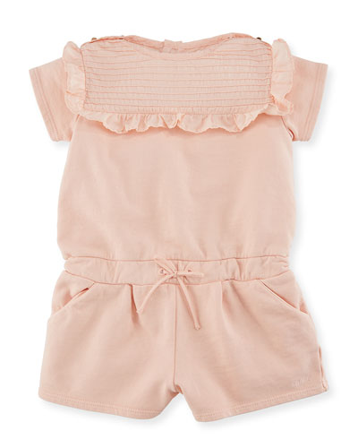 Pintucked Jersey Romper w/ Ruffles, Size 6-18 Months  and Matching Items