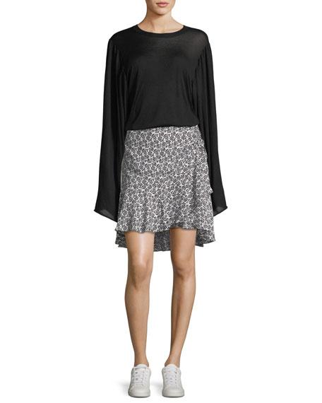 Stewart Crewneck Long-Sleeve Wool Sweater