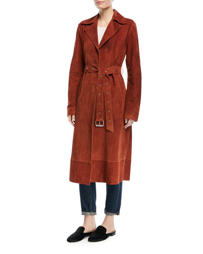 Jules Belted Suede Coat and Matching Items