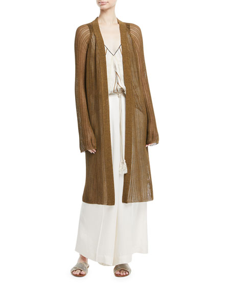 Oversized Open-Front Cardigan
