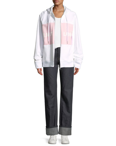Shayne Oliver Campaign-Print Terry Zip-Up Jacket and Matching Items