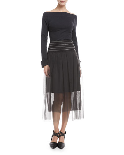 Monili Waist A-Line Tulle Skirt and Matching Items