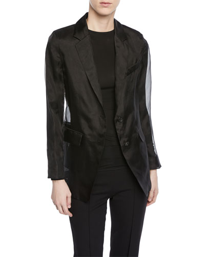 Lucerna Single-Breasted Silk Organza Jacket and Matching Items