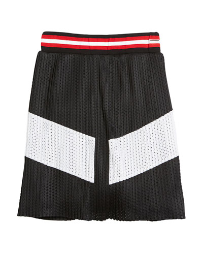 Two-Tone Pleated Mesh Skirt, Size 4-5  and Matching Items