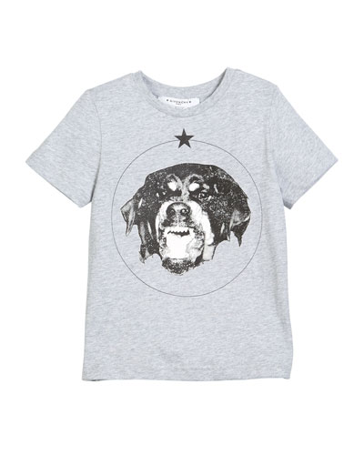 Short-Sleeve Cotton Dog Graphic T-Shirt, Size 4-5  and Matching Items