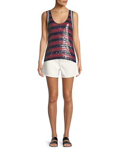 Striped Sequin Tank Top and Matching Items
